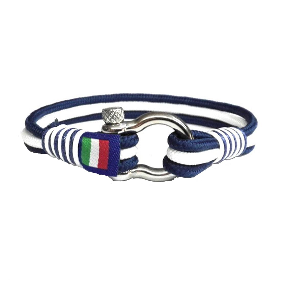 61d57f37509283 Bracciale Stile Nautico con Grillo in Acciaio N001 – il gioiello