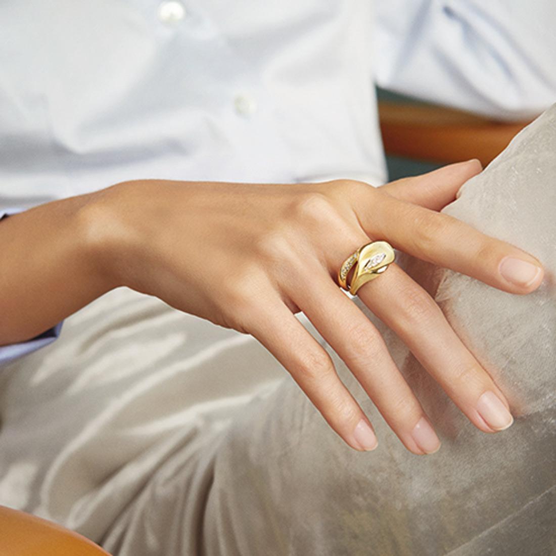 bonne réputation prix incroyables charme de coût ANNAMARIA CAMMILLI Anello in Oro Orange e Diamanti Linea Calla GAN0233J