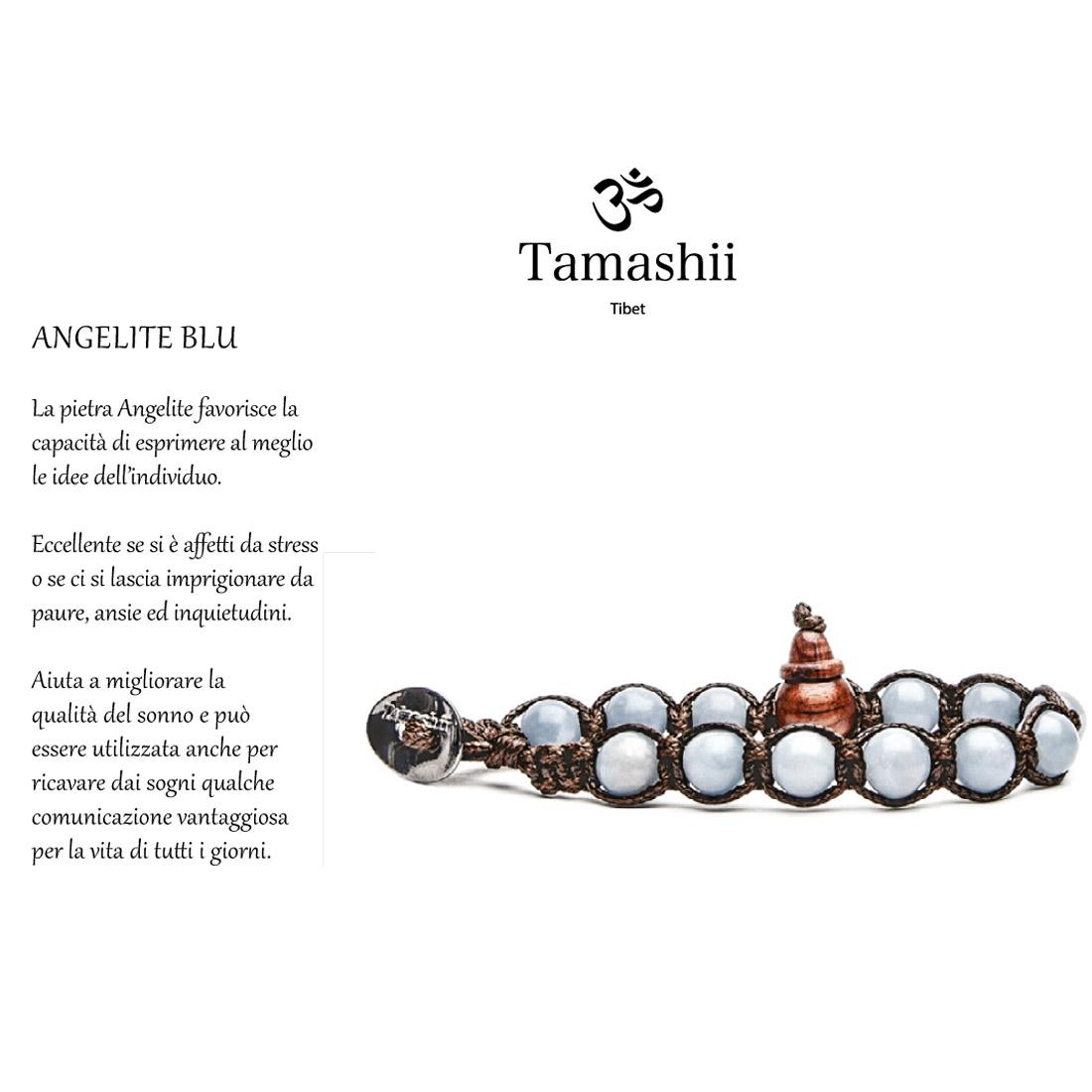 Bhs900 211 Tamashii Bracciale Blu Angelite Tibetano In n0w8kOP